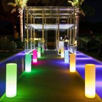 Columna Tubos led, 100cm, RGB, recargables