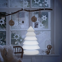 Arbol de navidad, led, RGB, recargable, Snowy