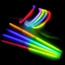 100 Pulseras luminosas, glow, bicolor (100 uds)