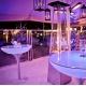 Mesa de luz, led, RGB, 84x105cm, recargable, Shine