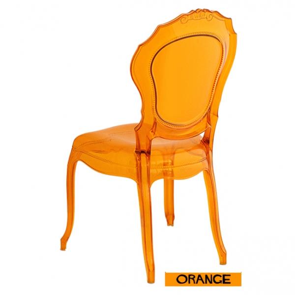 Sillas transparentes luis xvi naranja for Sillas transparentes