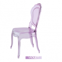 Sillas transparentes, Luis XVI, Violeta