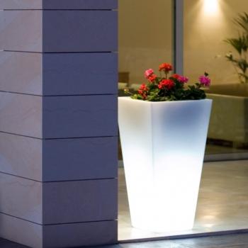 Maceteros Macetas con luz led luminosos, Amsterdam, RGB, recargables