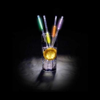 Pajitas luminosas, glow multicolor  (50 unidades)
