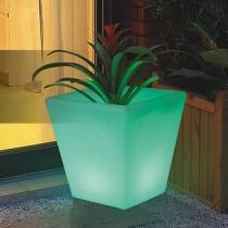 Maceteros Macetas con luz led luminosos, Albariño RGB, recargables