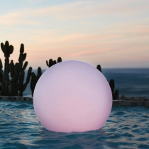 Bola luminosa de luz led 80 cm, esfera, multicolor recargable