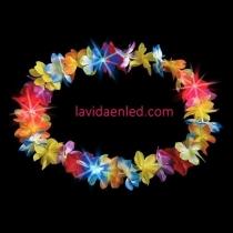 Collar Hawaiano de flores Led