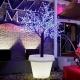 Maceteros Macetas con luz led luminosos, 60x68cm, Roma, RGB, recargables