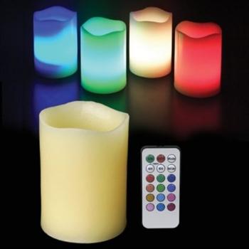 Velas led, de cera, RGB, con mando