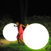 Bola luminosa de luz led 150 cm, esfera, multicolor recargable