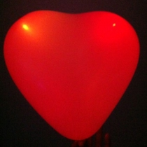 Globos Led, corazón, rojo