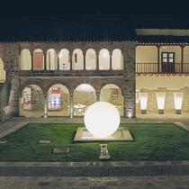 Bola luminosa con luz led 200 cm, esfera, multicolor