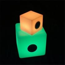 Cubo led RGB altavoz bluetooth, recargable, música, varias medidas