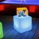 Cubo led, 40x40cm, RGB, recargable