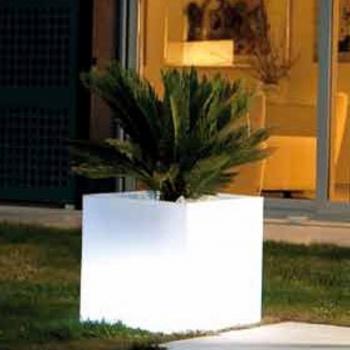 Maceteros Macetas con luz led luminosos, 40x40cm, RGB, recargables
