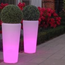 Maceteros Macetas con luz led luminosos, Vigo, RGB, recargables