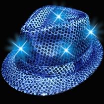 Sombreros Fedora, luminosos, azul