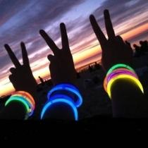 100 Pulseras fiesta luminosas multicolor glow PREMIUM