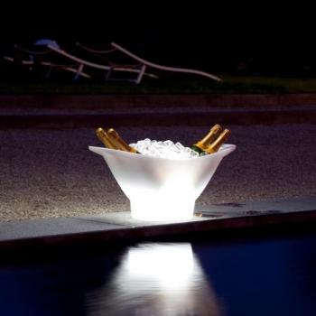 Cubitera luminosa led 'Gondola', luz 16 colores