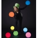 Bola luminosa led esférica 25 cm, luz 16 colores, portátil, flotante