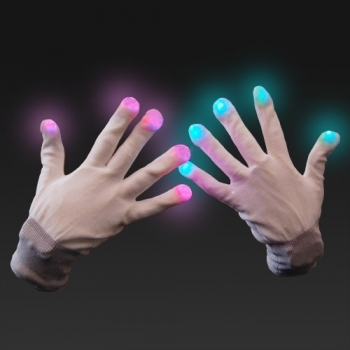 Guantes luminosos led