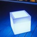 Cubo luminoso led abierto 40 cm, luz 16 colores, portátil