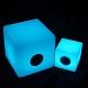 Cubo Altavoz bluetooth luminoso led 30 cm, luz 16 colores, portátil