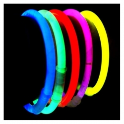100 Pulseras luminosas glow de solo 1 color, varios colores disponibles