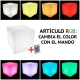 Maceteros con luz led, RGB, recargable, Big Roma