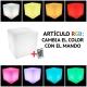 Lámpara led 'Ampolla', luz 16 colores