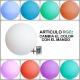 Bola luminosa led esférica 60 cm, luz 16 color, flotante