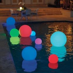 Bola luminosa led esférica 50 cm, luz 16 colores, portátil, flotante