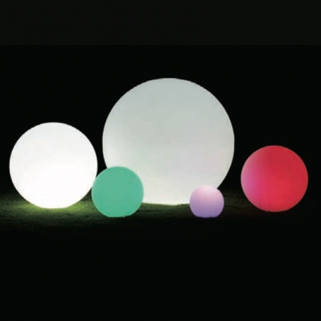 Bola luminosa led esférica 50 cm, luz 16 color, flotantees, portátil