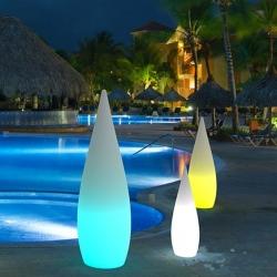 Lámpara luminosa led 'Gota', luz 16 colores, portátil