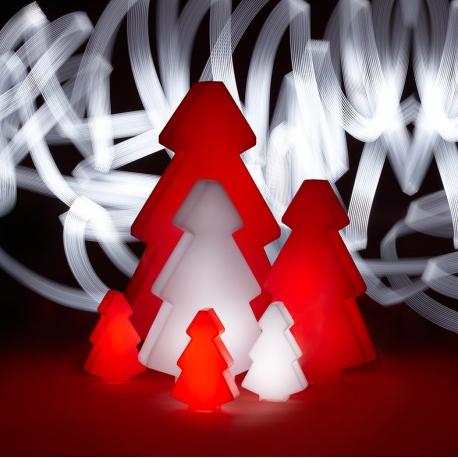 Rboles de navidad luminoso led 40 cm luz 16 colores for Arbol de navidad led