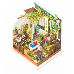 DIY Miniatura Casita Muñecas Jardín-Patio