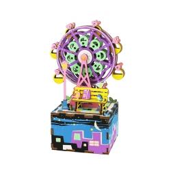 DIY Caja de Música Noria Maqueta Puzzle 3D