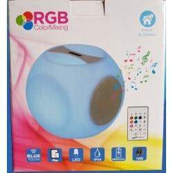 Led light bluetooth speaker cube, 40 cm, light of 16 colors, portable