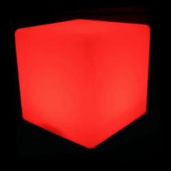 Cubo luminoso led 30 cm, luz 16 colores, portátil
