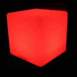 Cubo luminoso led 30 cm, luz 16 cores, bateria recarregável