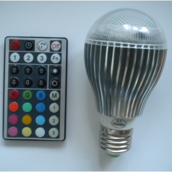 Bombillas led, E27, 9W, RGB