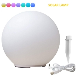 Bola led 35cm, RGB, recargable