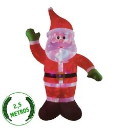 Santa -Papá Noel Luminosos Auto-Inflable Hinchable Gigante para Exterior
