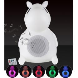 Lámpara Led infantil altavoz bluetooth luz 16 colores, portátil