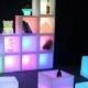 Cubo aberto Led 40 cm, luz 16 cores, bateria recarregável