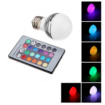 Bombillas led, E27, 3W, RGB, mini