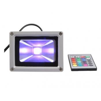 Foco proyector led 10W RGB.