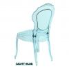 Sillas italianas transparentes, Belle Epoque, Azul eléctrico