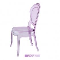 Sillas italianas transparentes, Belle Epoque, Violeta