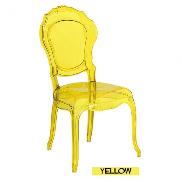Silla transparente belle epoque amarilla for Sillas transparentes